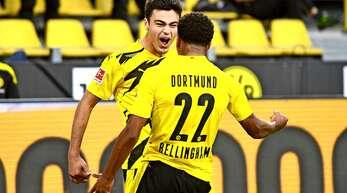Beim BVB glänzen beim 3:0 gegen Gladbach Giovanni Reina (l.) und Jude Bellingham.