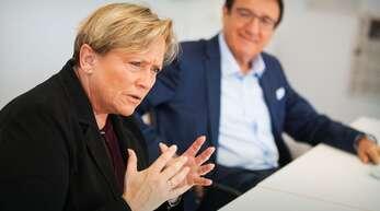 Kultusministerin Susanne Eisenmann und Fraktionschef Wolfgang Reinhart – beide CDU – beim Interview im Stuttgarter Pressehaus