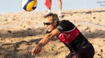 Kim Behrens musste sich mit ihrer Partnerin Cinja Tillmann erst im Finale geschlagen geben.
