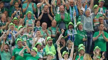 Die Farbe Grün ist bei den traditionsbewussten Fans von Frisch Auf Göppingen gesetzt.
