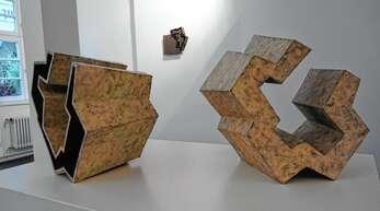Kunstwerke von Manfred Emmenegger-Kanzler in der Oberkircher Ausstellung.