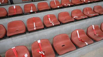 Bleiben die Zuschauerplätze am Wochenende leer?