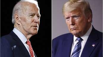 Wen wollen die Wähler im Weißen Haus? Joe Biden (links) oder Donald Trump?
