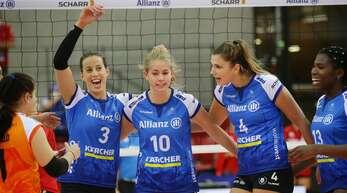 Bald wollen sie wieder jubeln: die Volleyballerinnen des MTV Stuttgart