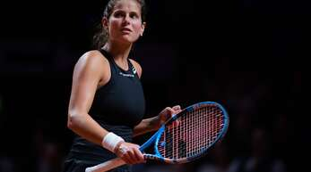 Spiel, Satz und Sieg: Julia Görges bei ihrem Auftritt 2019 in Stuttgart. Nun hat die Tennisspielerin ihre Karriere beendet.