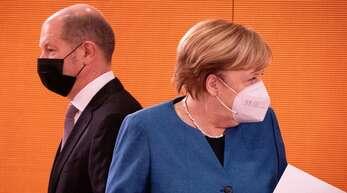 Olaf Scholz (SPD) und Bundeskanzlerin Angela Merkel.