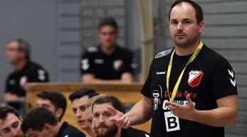 TuS-Coach Nico Baumann hat mit seinem Team nur noch eine einfache Runde zu bestreiten.Foto: handball-server