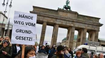 Proteste gegen das Infektionsschutzgesetz in Berlin.