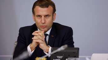 Frankreichs Präsident Macron ist vorsichtig optimistisch. (Archivbild)