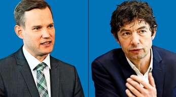 Sind sich im Hinblick auf die Corona-Maßnahmen nicht immer ganz einig: Die beiden Virologen Hendrik Streeck und Christian Drosten.