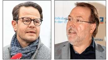 Wer ist der beste Anglizist in Town? OB Marco Steffens (links) oder Bürgermeister Hans-Peter Kopp?