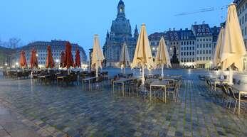 Nach Weihnachten könnte es ruhig werden, wie hier in Dresden auf dem Neumarkt vor der Frauenkirche.