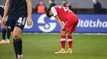 Enttäuscht: Freiburgs Woo-yeong Jeong nach dem Spiel.