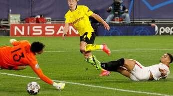 Doppelpack in Sevilla: Erling Haaland von Borussia Dortmund.