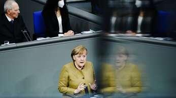 Angela Merkel verteidigt am Donnerstag die Lockdown-Verlängerung.