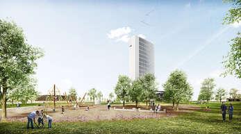 So könnte das Burda-Areal im Zuge der Umgestaltung für die Landesgartenschau aussehen.