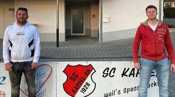 Frank Kocur (l.) und Maik Fritzsche bilden das neue Trainerteam des SC Kappel.