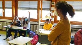 Maskenpflicht im Unterricht gilt auch an der Albert-Schweitzer-Schule.