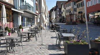 Noch bis Freitag gilt die kurze Version der Oberkircher Dußgängerzone. Dann wird sie verlängert.