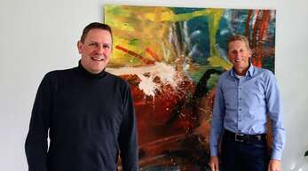 Der neue Konrektor der Staufenberg Schule Durbach Marc Zöller (links) und Schulleiter Heinz Baumann.