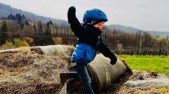 Der Nachwuchs hatte viel Spaß bei der Schnitzeljagd des SC Durbachtal.