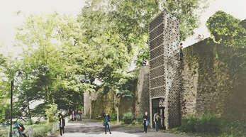 2019 wurde dieser Entwurf für einen Aufzug an der Offenburger Stadtmauer vorgelegt.