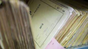 Blick in den Archivfundus der Stasi-Unterlagenbehörde in Berlin.