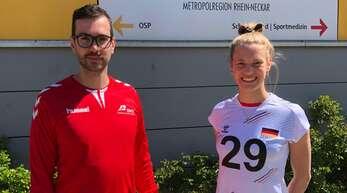 Wieder vereint: Florian Völker und Pia Leweling im Dress der deutschen Nationalmannschaft.