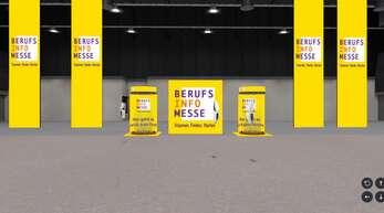 """Am 7. und 8. Mai können die virtuellen Räume der Berufsinfomesse online zum Beispiel in der Baden Arena """"besucht"""" werden."""