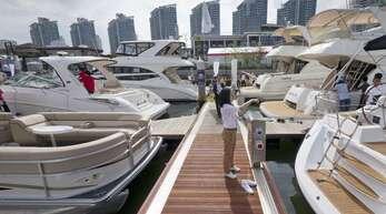 Yachten im Hafen von Sanya sind bei Chinas Reichen beliebt.