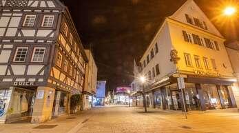 Auch in Nürtingen (Kreis Esslingen) gilt von Mittwoch an eine nächtliche Ausgangssperre.
