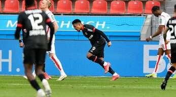 Leon Bailey machte zwei Tore gegen Köln.