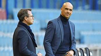 Erfolgreiche Arbeit bei Vitesse Arnheim: Trainer Thomas Letsch (re.), Sportdirektor Johannes Spors.