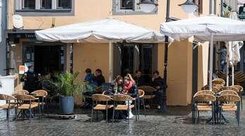 In Saarbrücken durften die Gastronomen ihren Außenbereich wieder öffnen.