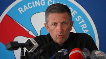 Straßburgs Trainer Thierry Laurey hofft auf ein gutes Spiel seiner Elf.