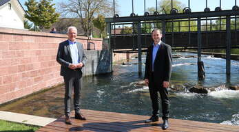 Offenes Gespräch über Corona und die Folgen: Willstätts Bürgermeister Christian Huber im Gespräch mit dem Grünen-Bundestagskandidaten Thomas Zawalski