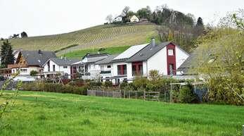 Im Baugebiet Kallmatt in Butschbach gab es Streit um eine Hecke, welche die Baugrundstücke vor den Immissionen einer landwirtschaftlichen Fläche (im Vordergrund) schützen sollte.