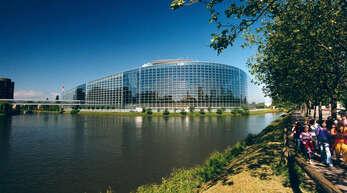 Blick auf das Europäische Parlament in Straßburg.