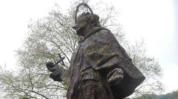 Der Heilige Nepomuk auf der Gutleutbrücke in Haslach
