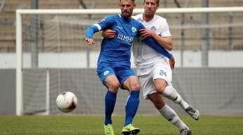 Der Ex-Ulmer David Braig (li.) trifft gegen den FC Ingolstadt II zum 1:0.
