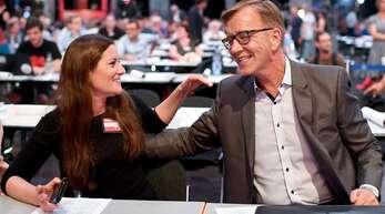 Janine Wissler und Dietmar Bartsch führen die Linke in die anstehende Bundestagswahl. (Archivbild)
