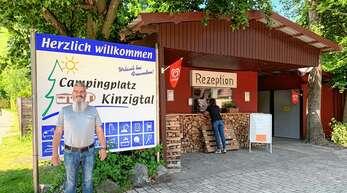 Der Campingplatz Kinzigtal in Steinach hat seit 20. Mai wieder geöffnet. Betreiber Thomas Tillmanns freut sich, dass wieder Leben auf dem Platz ist