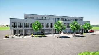 """So wird es aussehen, das neue Ärzte- und Geschäftshaus, das im Gengenbacher Gewerbegebiet """"Oberer Grün"""" bis Sommer 2022 entstehen wird."""