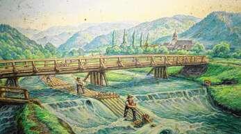 Das erste Floß ging laut Aufzeichnungen im Jahr 1336, das letzte Floß anno 1896 die Kinzig abwärts.