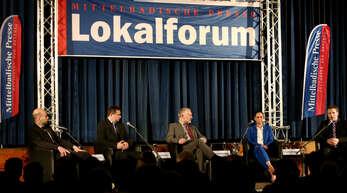 Wenn die Kandidaten feststehen, lädt das Offenburger Tageblatt zu einem Lokalforum (wie hier in Biberach) mit Redaktionsleiter Wolfgang Kollmer (Zweiter von rechts)...