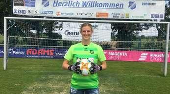 USA-Rückkehrerin Sarah-Lisa Dübel (Foto) bildet in Zukunft gemeinsam mit Jasmin Pal das Torhüter-Duo beim SC Sand.