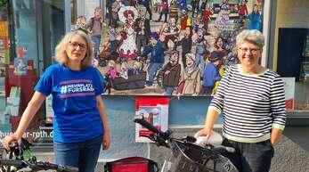 Monika Kunschner (links) und Heidi Marwein, beide im Vorstandsteam des ADFC Offenburg, äußern sich zum Masterplan Verkehr.