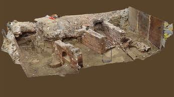 In einem anschaulichen 3D-Modell haben die Experten des Landesdenkmalamts die Grabungsstelle dargestellt. Das Modell kann beliebig gedreht werden, hat aber laut Museums- und Archivleiter Wolfgang Reinbold nicht die erklärende Wirkung eines Animationsfilms.