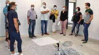Über den Stand der Umbau- und Sanierungsarbeiten in der Festhalle – wie hier im Bereich der Küche – informierte die Renchener Stadtverwaltung am Montag die Gemeinderäte.