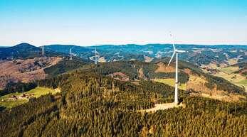 Der Windpark Hohenlochen liegt auf der Gemarkung von Oberwolfach und Hausach.